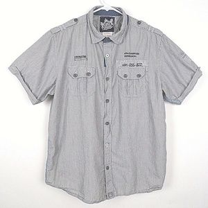 Men's Brave Soul Casual Button Up Shirt Sz L   J30